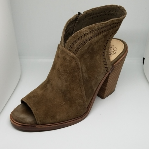 Vince Camuto Shoes - VINCE CAMUTO Koral Peep Toe Suede Booties